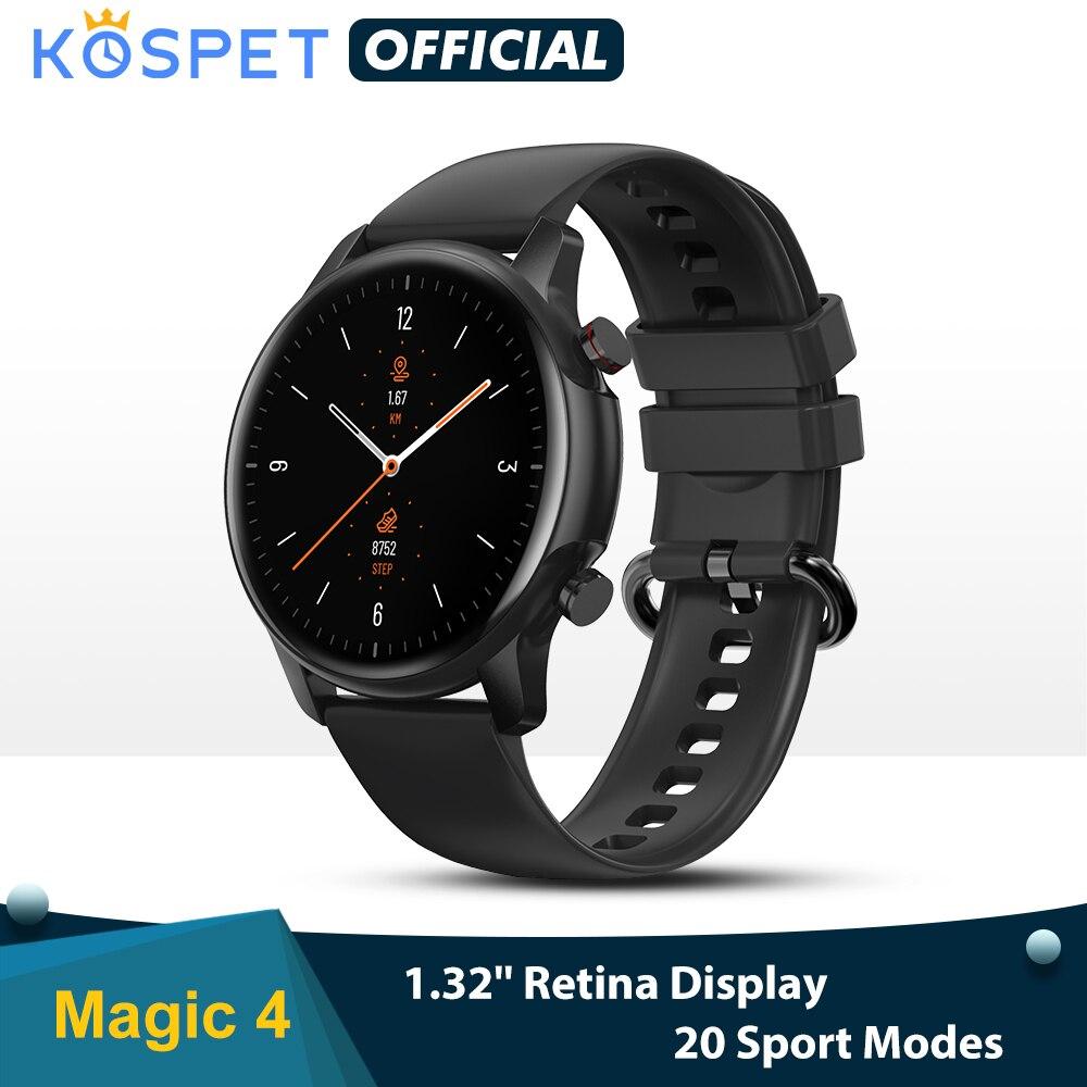 KOSPET 2021 Magic 4 Women Lovely Smartwatch 1.32 IP68 Waterproof Built in Men Smart Sleep Monitoring