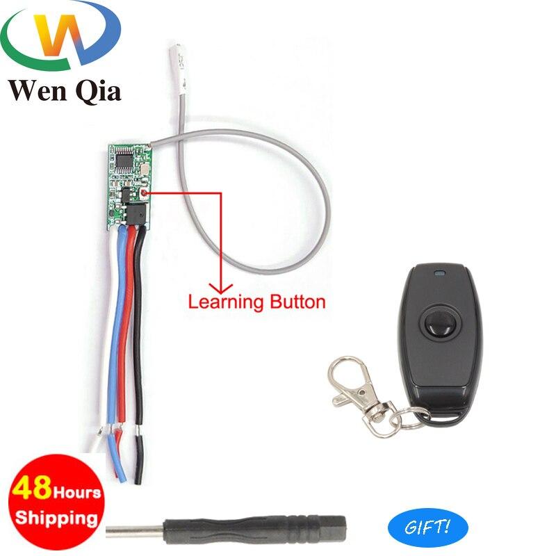 433mhz DC 3,6 V 6V 12V 24V 1CH Relay Wireless RF Fernbedienung Schalter Mini Modul mit Sender Für Power LED Lampe Licht DIY