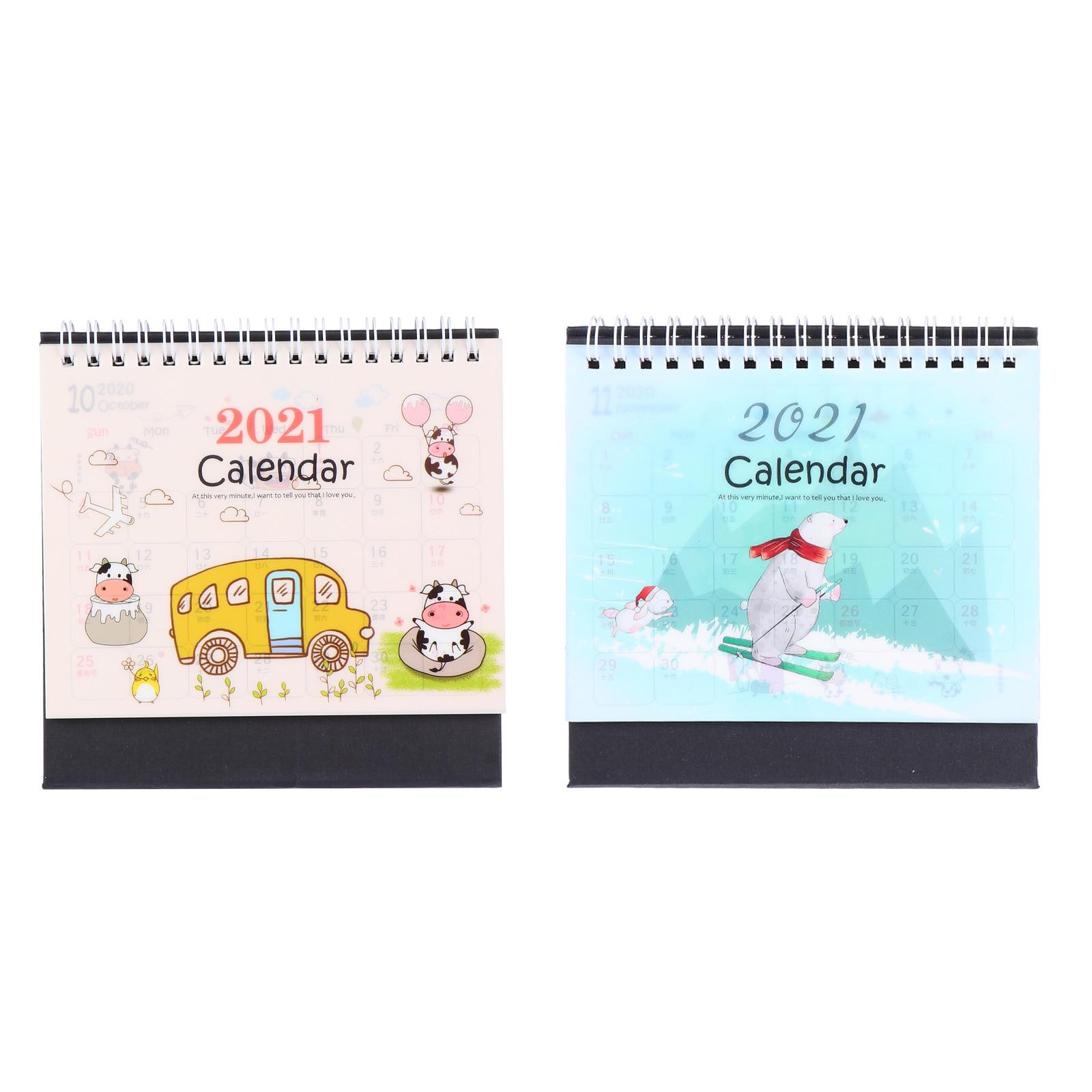 2 шт., милые настольные календари 2021