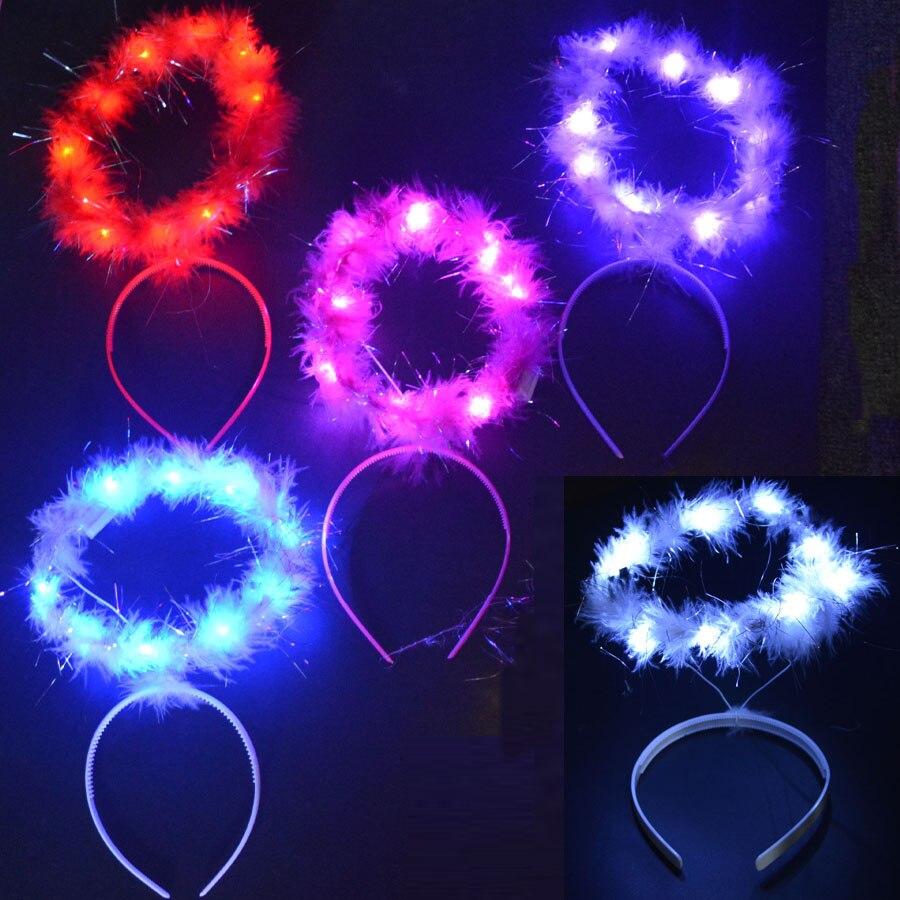Feminino meninas coroa de halo anjo piscando brilho faixa de luz hairbands faixa de cabelo casamento aniversário led festa suprimentos presente