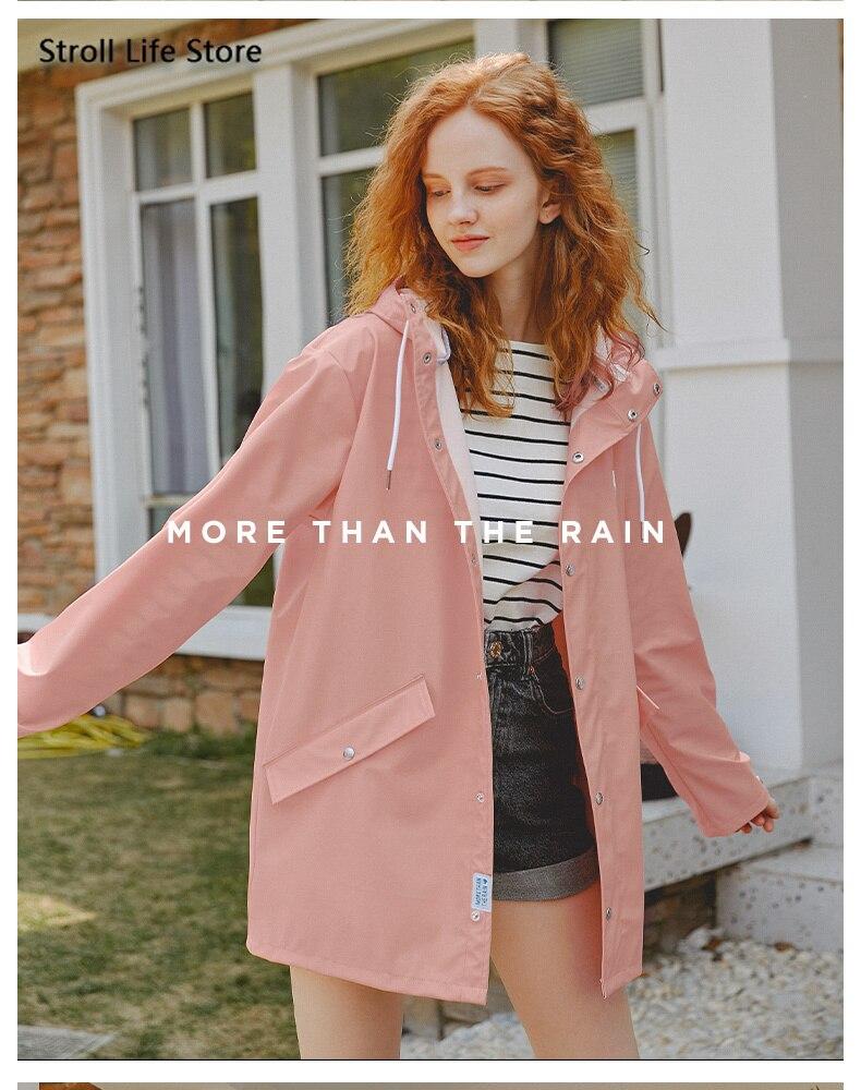 Long Rain Coat Women Raincoat Fashion Waterproof Rain Poncho Windbreaker Jacket Riding Bicycle Adult Hiking Impermeable Gift enlarge
