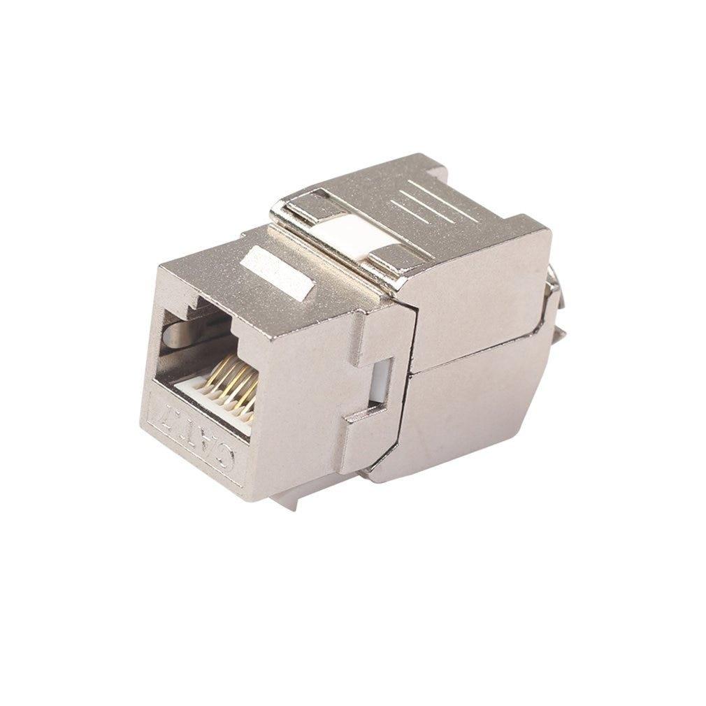 Network RJ45 Cat6 Cat7 Keystone Jack Module 360 Degree Full Shielded RJ45 Socket To LSA Tool-free Termination