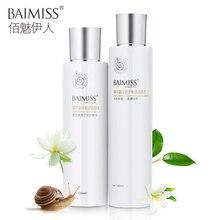 BAIMISS Snail Serum Repair Lotion Toner Face Care Acne Treatment Remover Blackhead Moisturizing Shrink Pores Facial Skin 2pcs