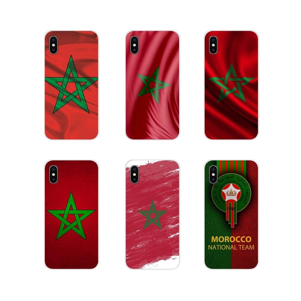 Bandera de fútbol marroquí para Samsung Galaxy J1, J2, J3, J4, J5, J6, J7, J8 Plus, 2018, Prime 2015, 2016, carcasa transparente de TPU