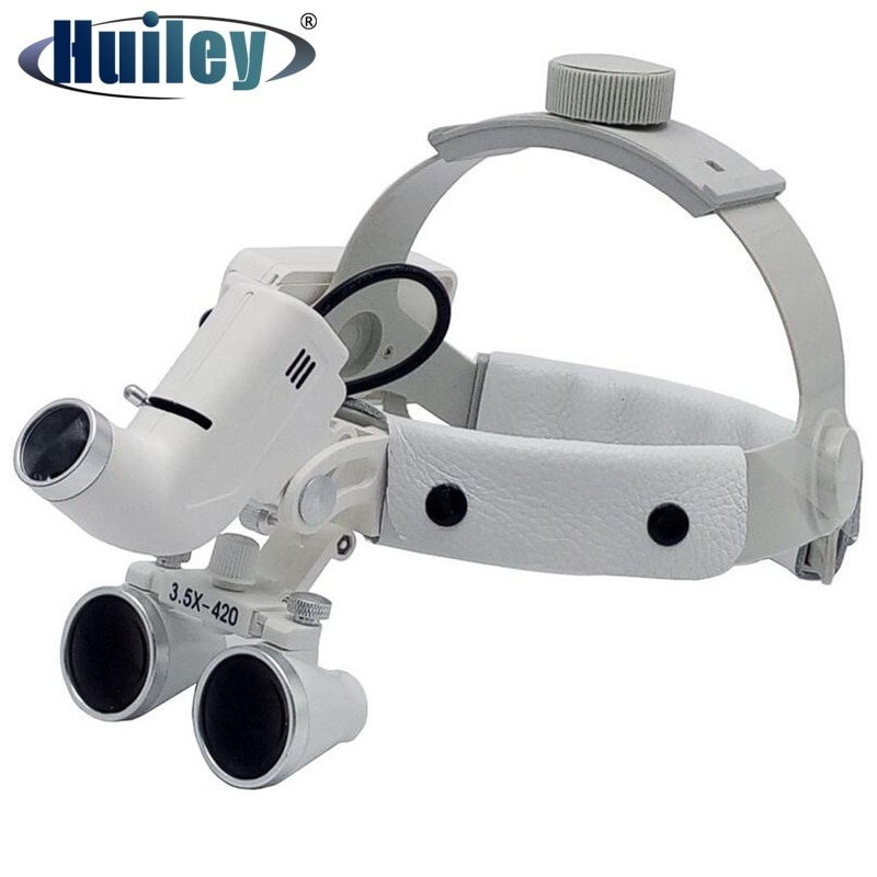 3.5X Surgical Loupes Helmet Magnifier Dental Loupe Surgeon Operation Medical Enlarger Clinical Surgical Magnifier with LED Light loupe magnifier surgical glasses 2 5x 3 5x dental loupes medical magnifier coated optical lens with clip for dentist surgical
