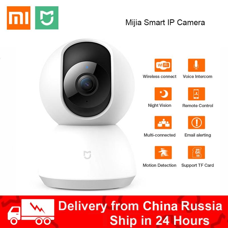 Hot Xiaomi Mijia Smart IP Camera 360 Angle 720P WiFi Pan-tilt Night Vision video camera Motion Detection Xioami Home Security