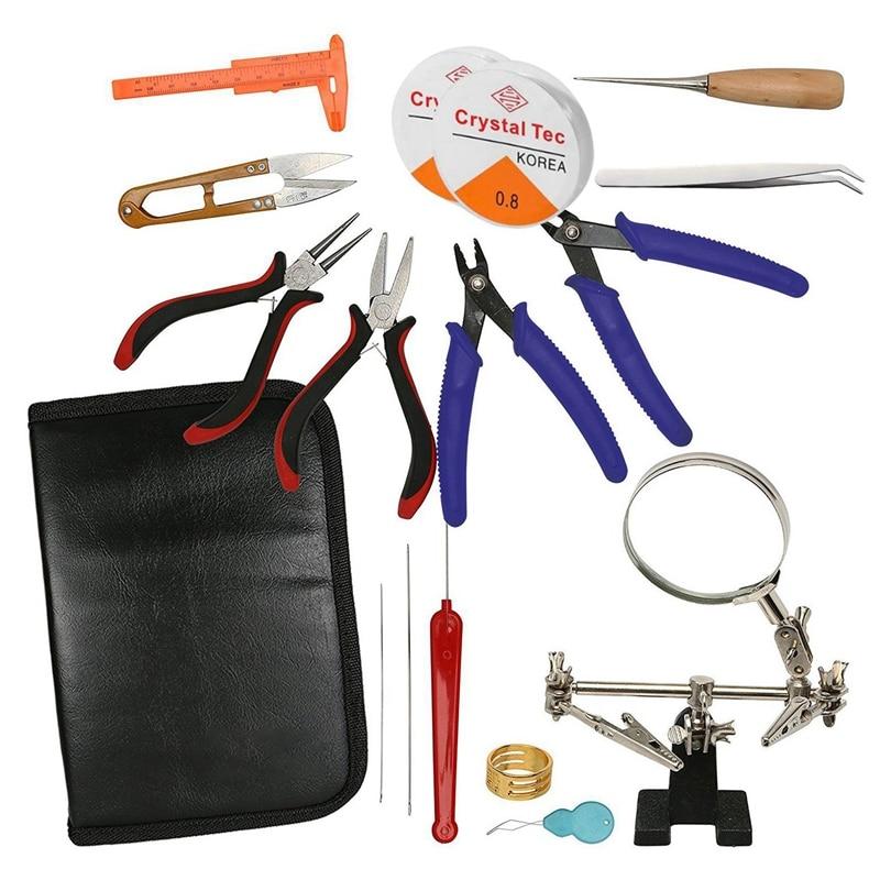1 комплект ювелирных изделий, принадлежности, набор-клещи для ювелирных изделий, подставка для лупы и щипцы для бисера отлично подходят для ...