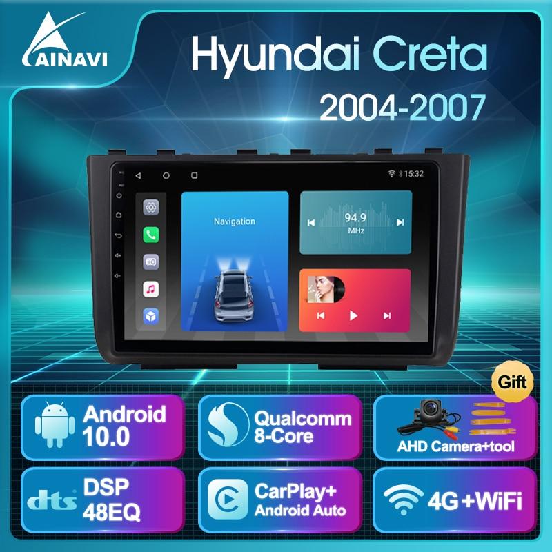 Car Radio AI Voice Android 10.0 QLED For Hyundai Creta 2016-2018 Auto Stereo Multimedia Video Player