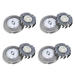 4 шт., сменные головки для электробритвы Norelco HQ3 HQ30/HQ32/HQ36/HQ300, серебристые