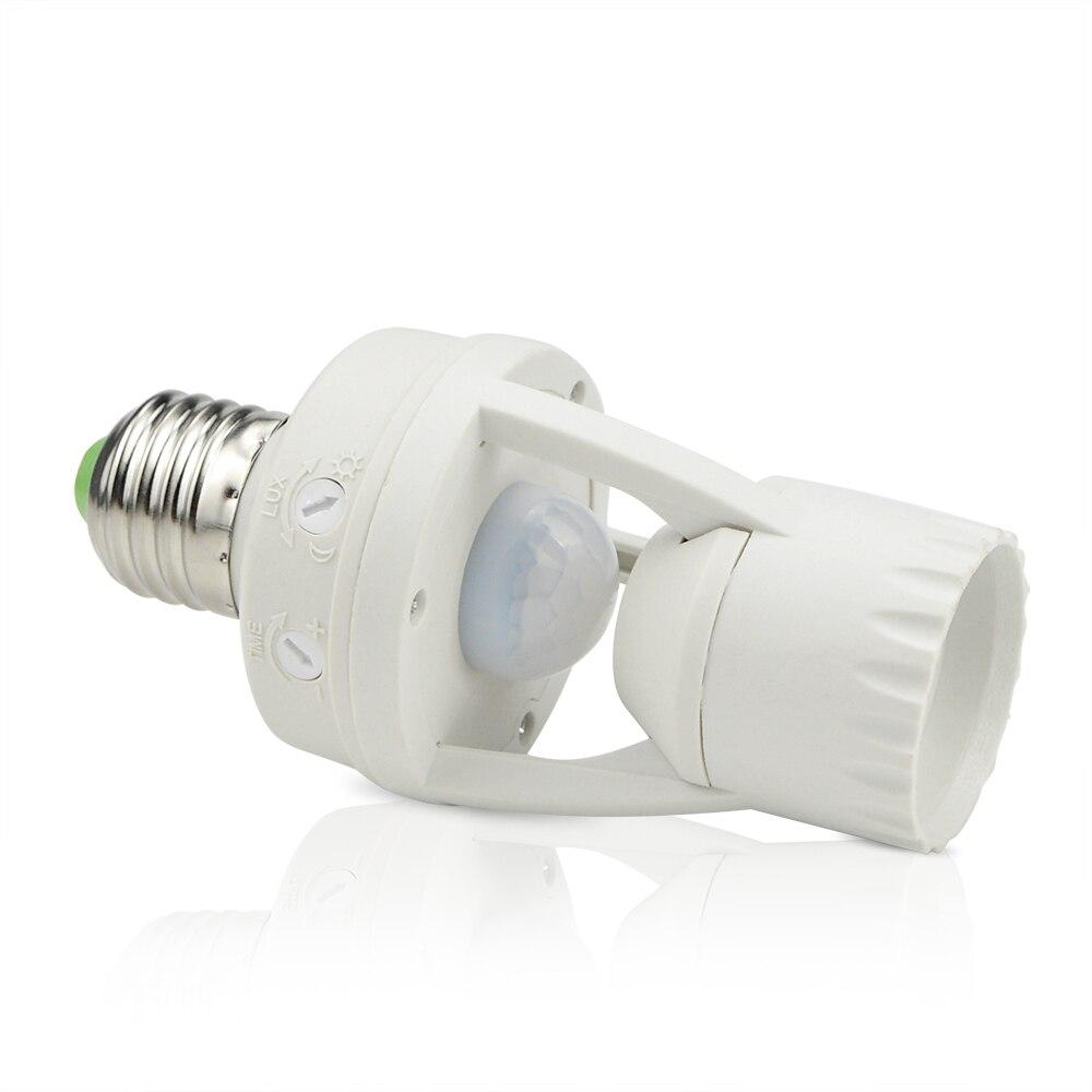 PIR Induction Infrared Sensor E27 LED lamp Base Holder With light Control Switch Bulb Socket Adapter Smart 110V-240V 60W