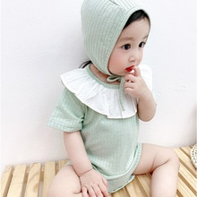 Yg Brand Children's Clothing Summer Baby One-piece Solid Color Lace Girl's Going Out Clothes Korean