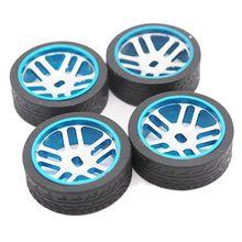 Para WLtoys K979 K989 Iw04M Awd Iw02 Rm02 Rm03 Dgawd mini-z mini-d-Q, piezas de repuesto de coche teledirigido, actualización de cubo de rueda de Metal, neumático
