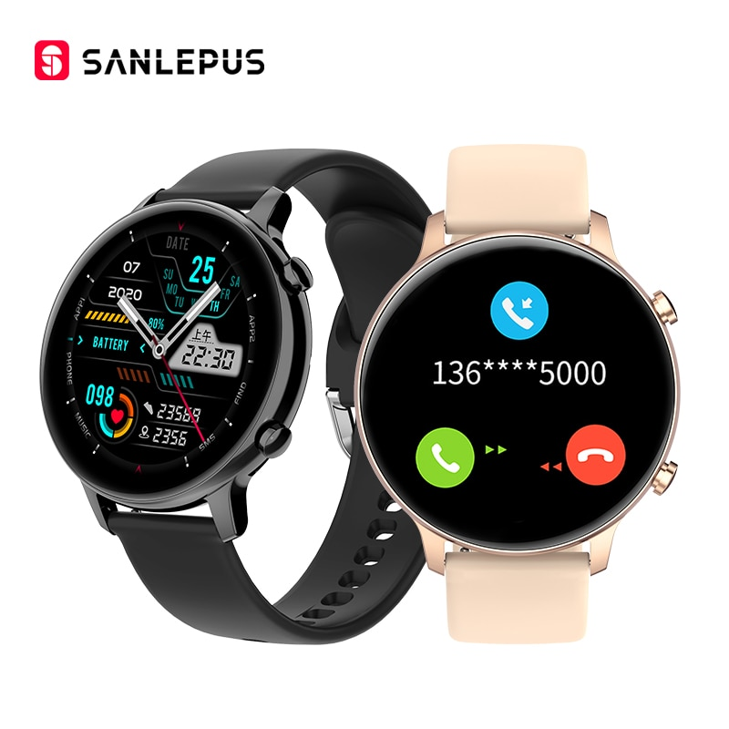 2021 NEW SANLEPUS Smart Watch Bluetooth Call Smartwatch MP3 Music Men Women Waterproof Wristwatch For Android iOS Samsung Huawei