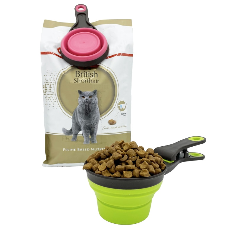 AliExpress - Multifunctional Folding Silicone Dog Bowl Feeder Portable Pet Food Container Measuring Cup Spoon Dogs Feed Storage Tool