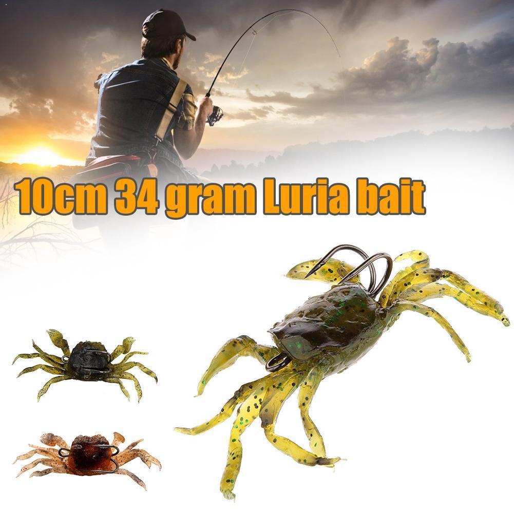 10cm 35g Bassdash Artificial para pesca de cangrejo señuelo anzuelos cebo simulación 3D afilado pesca peces con señuelos 1 Uds suave Q9U8