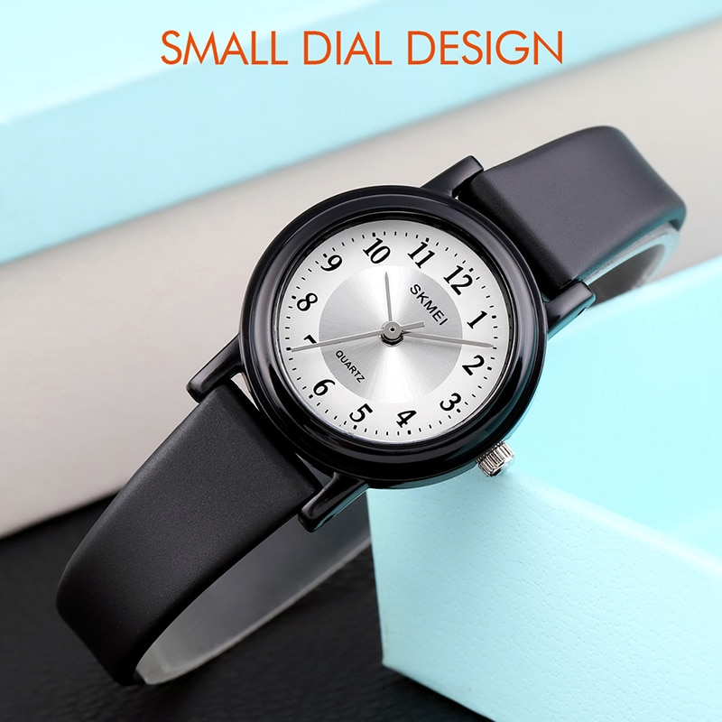 SKMEI Fashion Girls Watches Small Ladies Quartz Black Watch Minimalist Waterproof Casual Women Analog Wristwatches 1659 enlarge