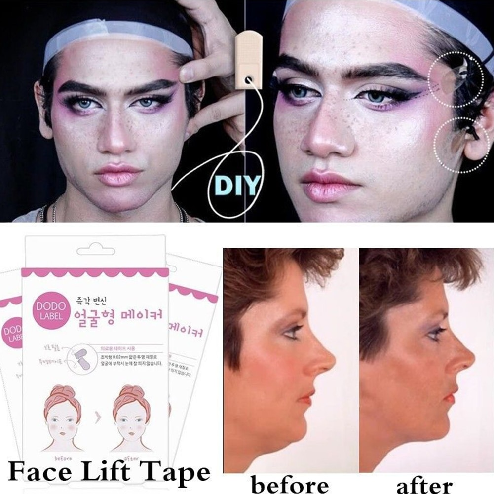 80/40pcs Lift Face Sticker Instant Waterproof V Shape Breathable Makeup Adhesive Tape Invisible Lift
