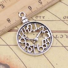 10pcs Charms Pocket Watch 39x29mm Tibetan Silver Pendants Crafts Making Findings Handmade Antique DI