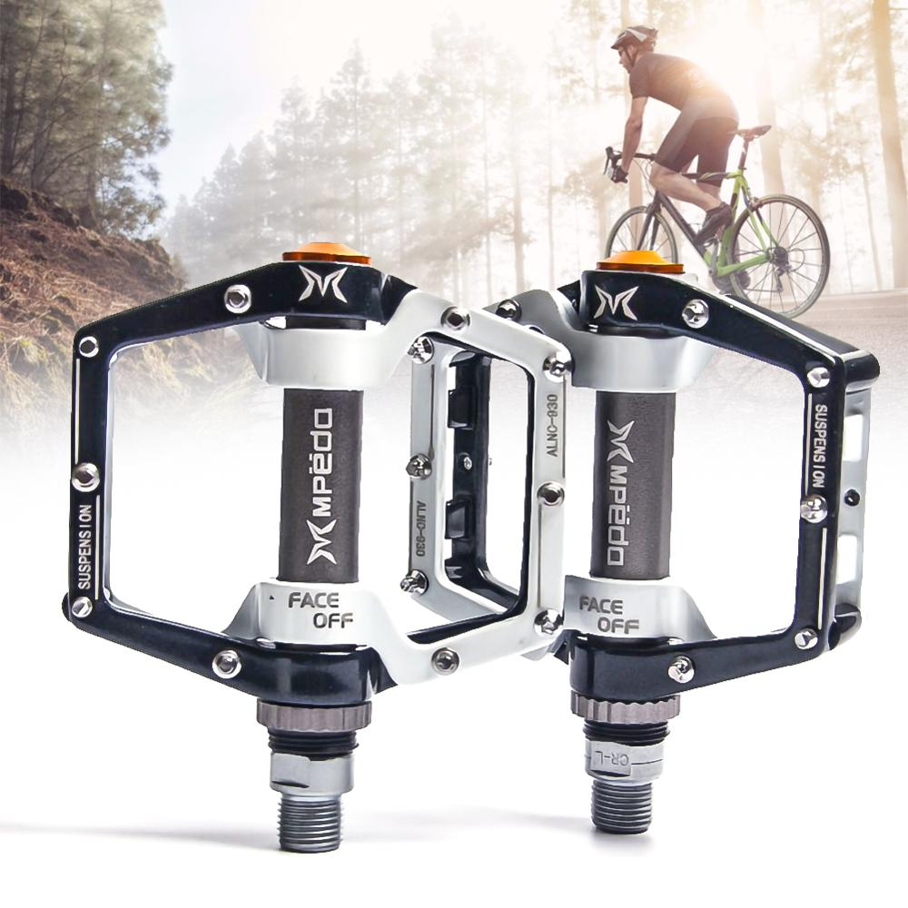 Pedales de plataforma ancha MTB, pedales planos de bicicleta MTB, 2 rodamientos, pedales de bicicleta, pedales de rodamiento antideslizantes, accesorios de bicicleta, Dropshipping