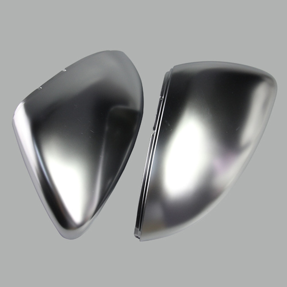 2 unidades, cubierta de espejo retrovisor lateral cromado mate para coche, cubierta de espejo retrovisor para VW Golf 7, Lamando Sportsvan 2013-2018