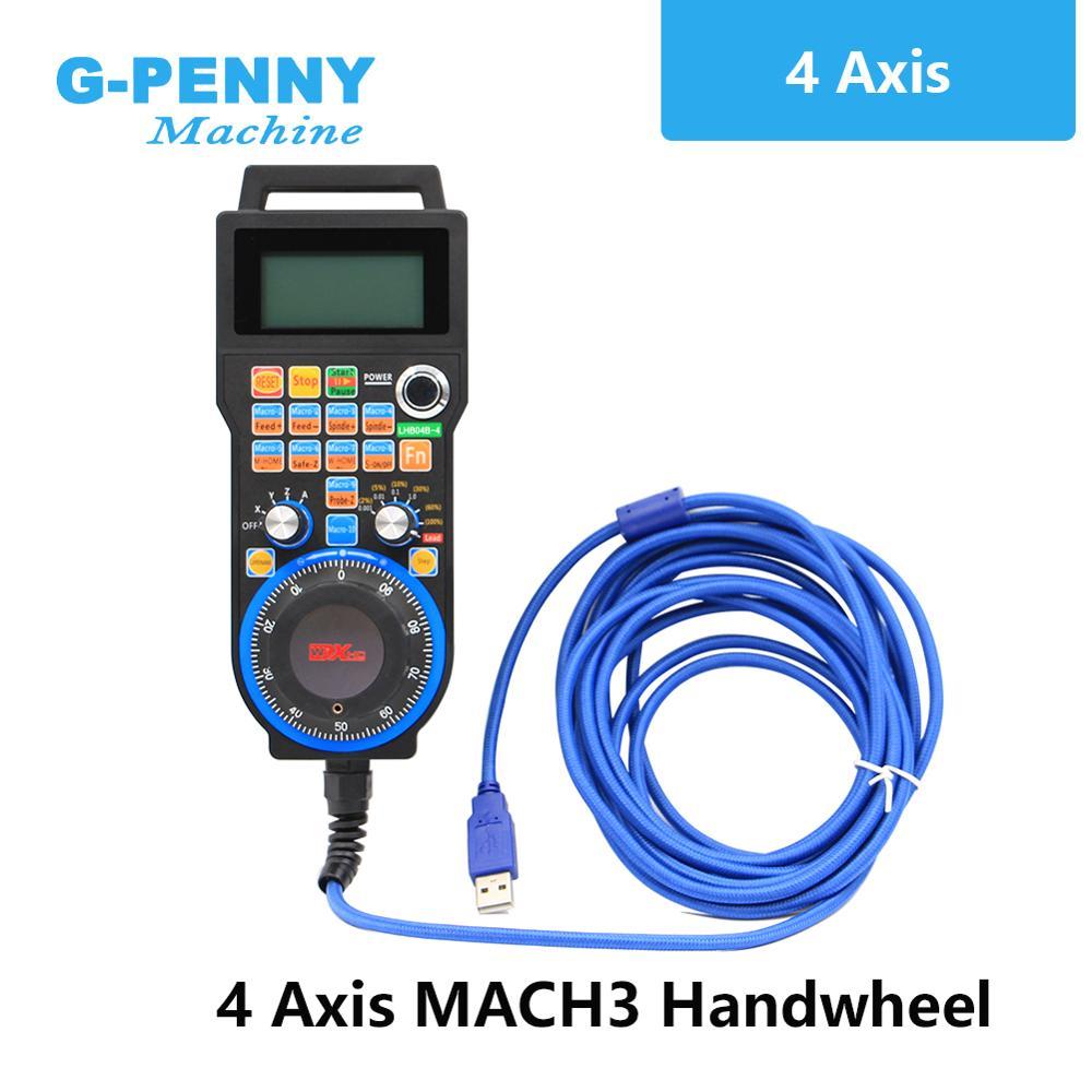 XHC 4 оси/6 осей MACH3 USB CNC маховик MPG Ручной USB кабель провода 5 метров для токарного станка и токарного центра CNC гравировальный станок