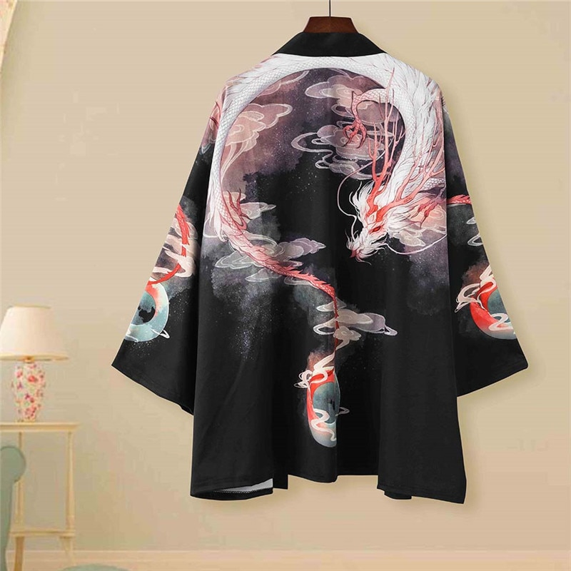 Traditional Haori Kimono Japanese Style Samurai Clothing кимоно японский стиль Male Female High-quality Daily Street Lounge