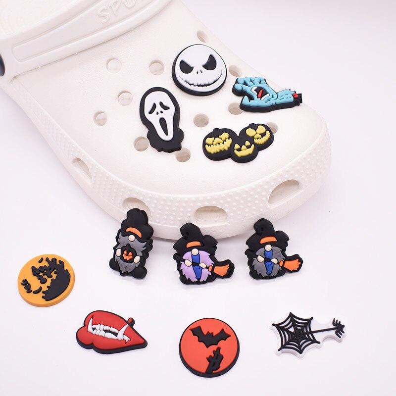 New Halloween Series PVC Soft Rubber Removable Shoe Decoration Shoe Ornament Shoe Buckle Eva Sandals