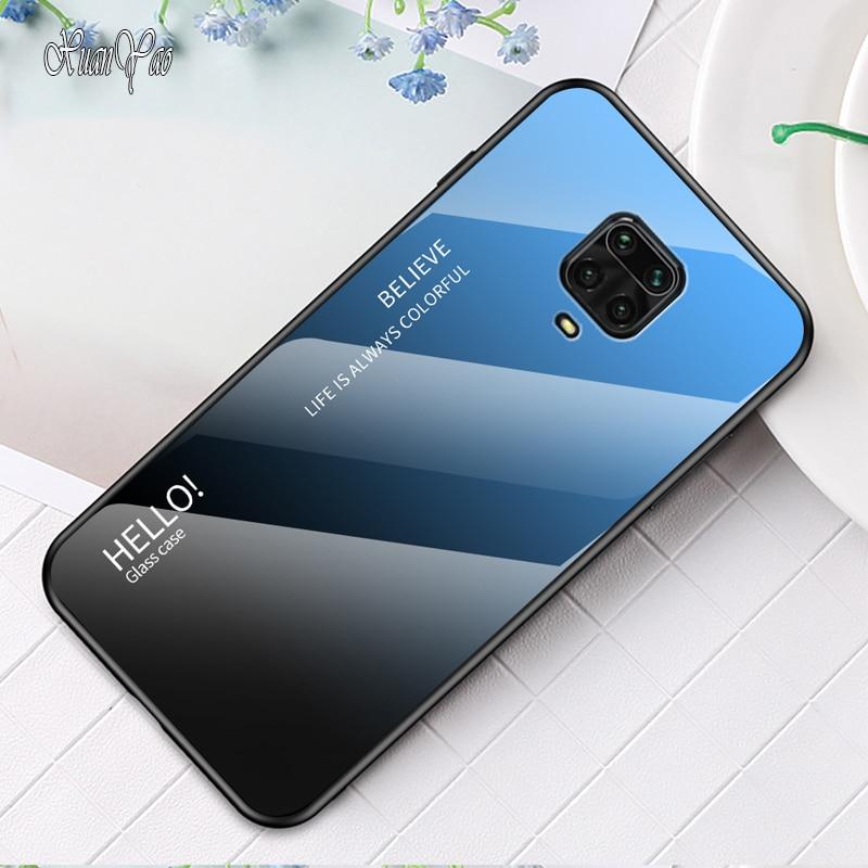 XUANYAO para Xiaomi Redmi Nota 9 S 9 S caso funda trasera de vidrio de Redmi Nota 9 caso de vidrio templado Xiomi Redmi Nota 9 S 9 Pro Max
