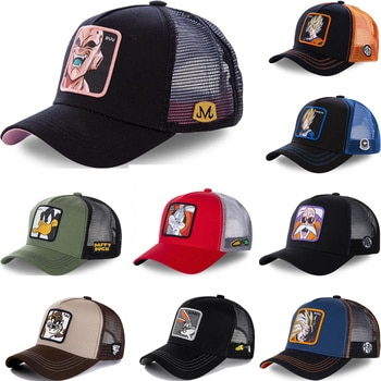 All Brand Anime Dragon Ball Z 62 Styles Snapback Cap Cotton Baseball Cap Men Women Hip Hop Dad Mesh Hat Trucker Dropshipping