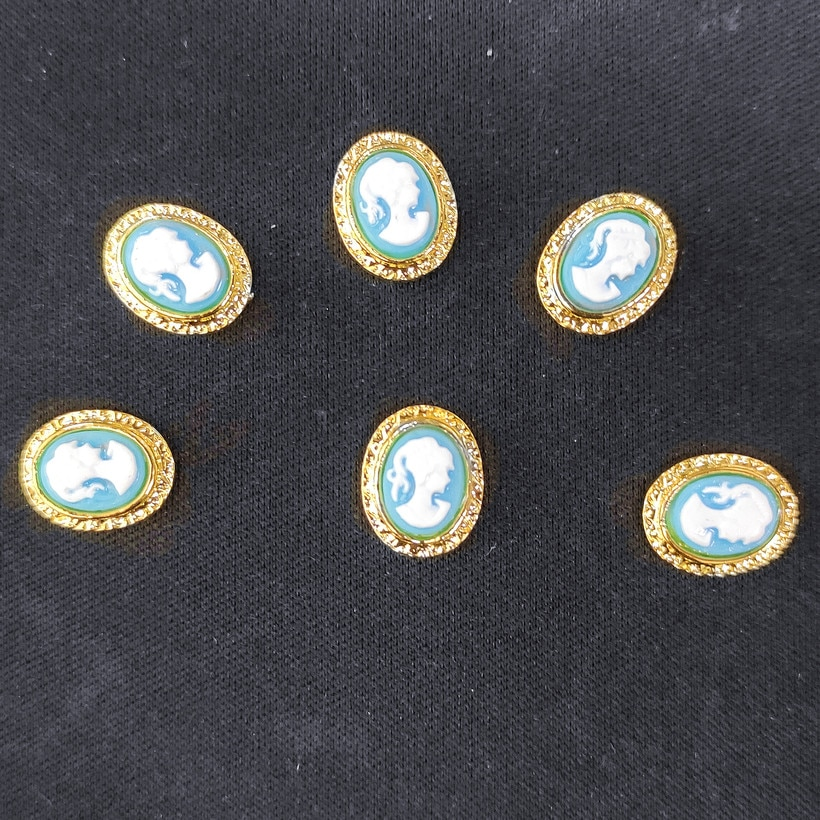 Frame Nail Art jewelry Gold Metal Charms Decors Princess Nailart Japanese 3d Glitter Accessories DIY Cameo nail supplies
