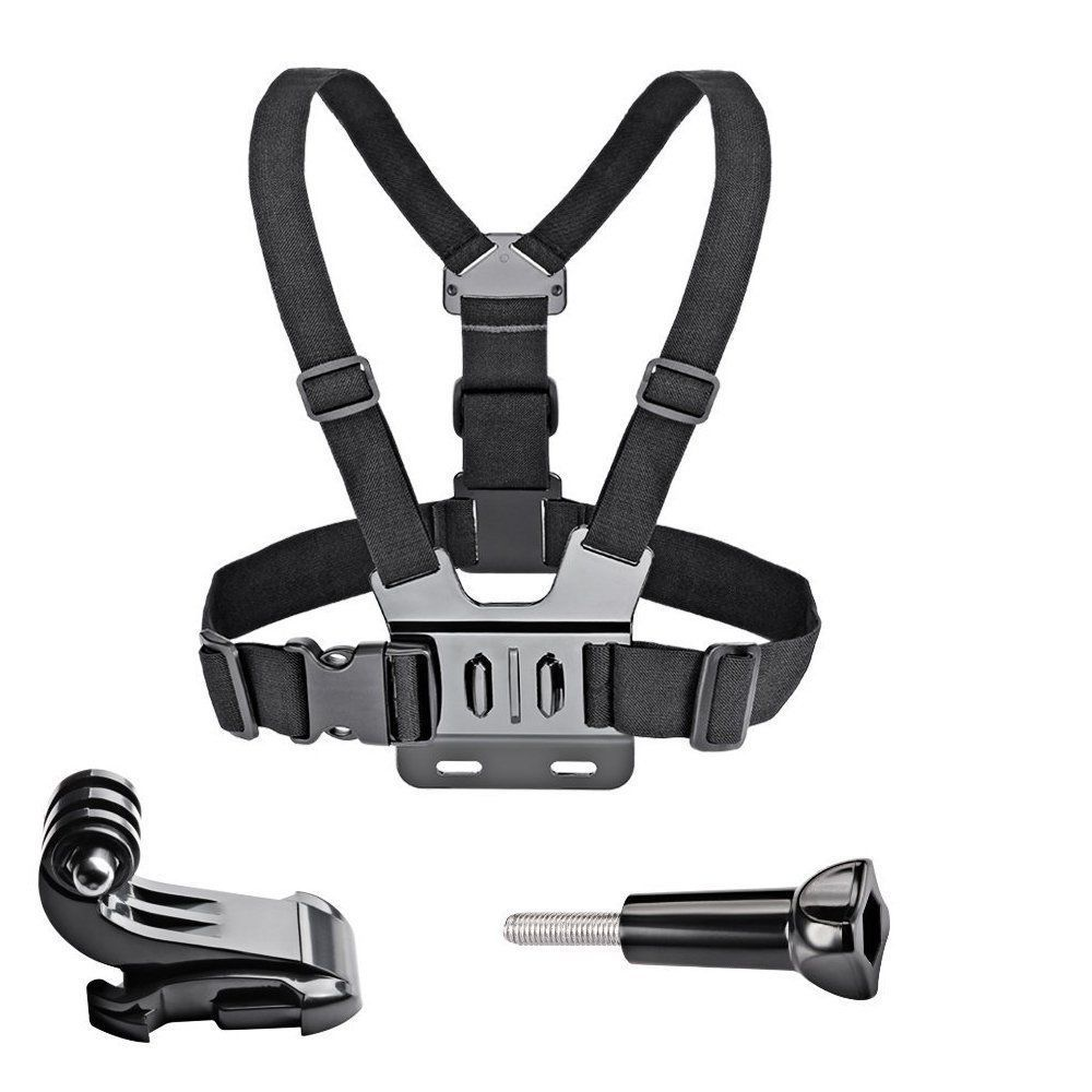 Chest Strap Mount Belt for Gopro Hero 9 8 7 6 5 4 3 3+Yi SJCAM SJ4000 Action Camera Chest Head Strap Mount Harness Sport Cam Fix