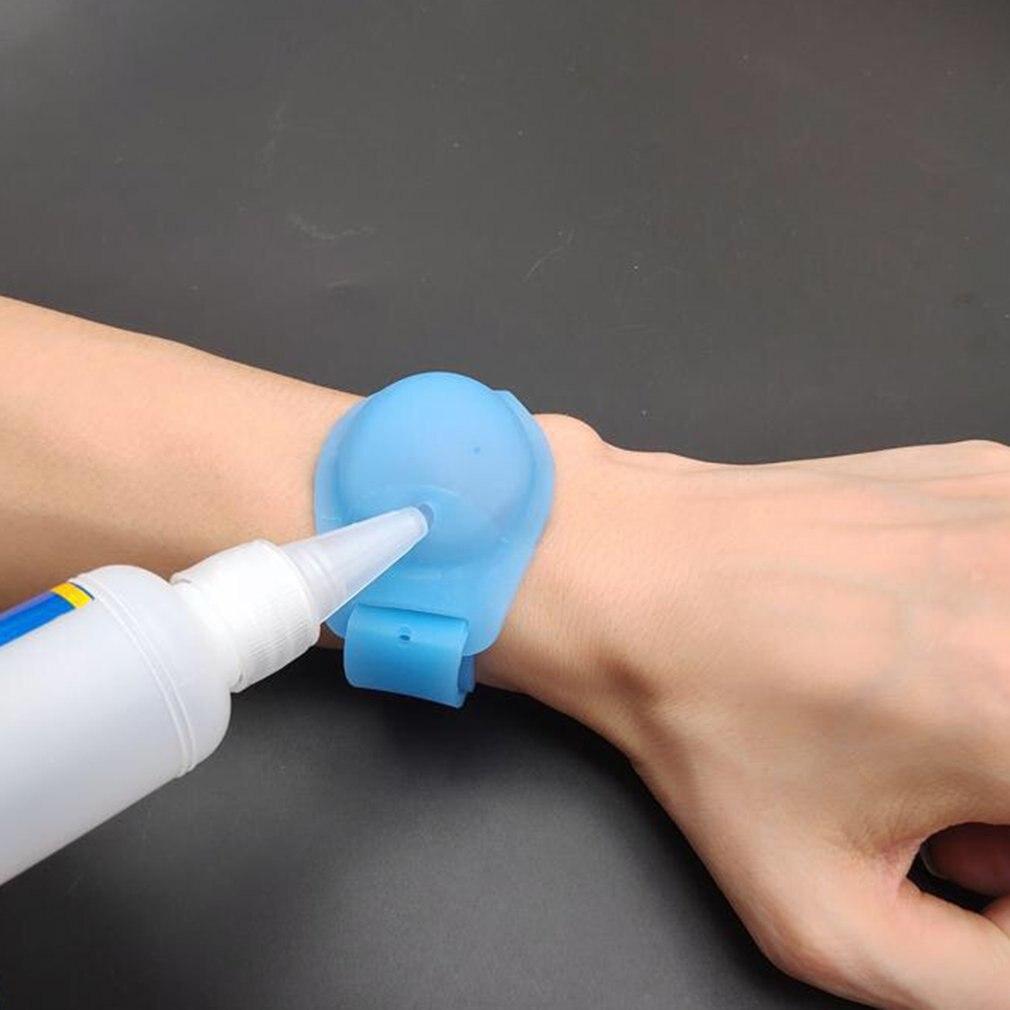 Sanitizer Dispenser Bracelet Wristband Sanitizer Dispenser Gel Bracelet Hand Washing Liquid Silicone With Pumps wristband hand dispenser hand sanitizer dispensing silica gel wearable refillable dispenser pumps wristbands hand band wrist