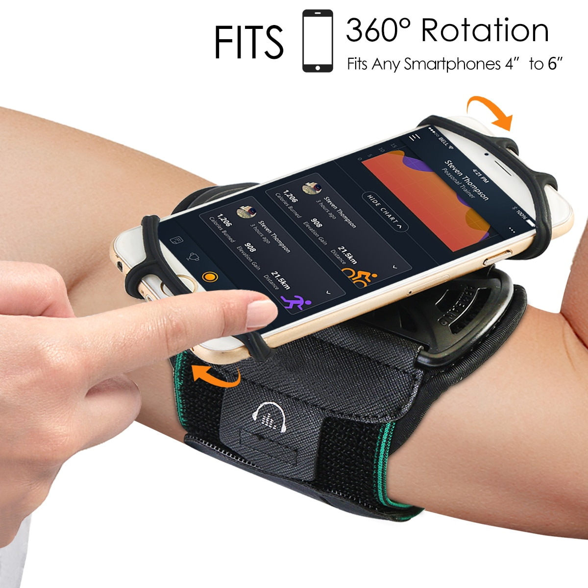 6 inch sports jogging gym armband running bag arm wrist band hand mobile phone case holder bag outdoor waterproof nylon hand bag Universal Waterproof Gym Running Sports Armband for iPhone X 8 7 Case Cover Holder Arm Band Wrist Case Bag for 4 to 6 Inch Phone