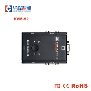 VGA Video Switcher KVM Switch VGA Switcher Mouse Keyboard Control 1 Key Switch  Computer Monitor Switching Selector box