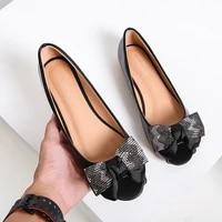 fashion flat shoes women cute peep toe women loafers pu leather rhinestone shoes woman flats big size ballet shoe woman 35 42