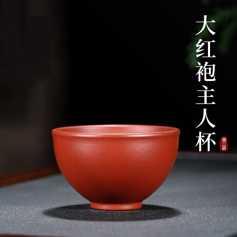 Yixing الأرجواني الرمال كأس ماستر كوب واحد كأس dahongpao طقم شاي الشاي المنزلية عينة فنجان شاي ، الكونغ فو ماستر كوب