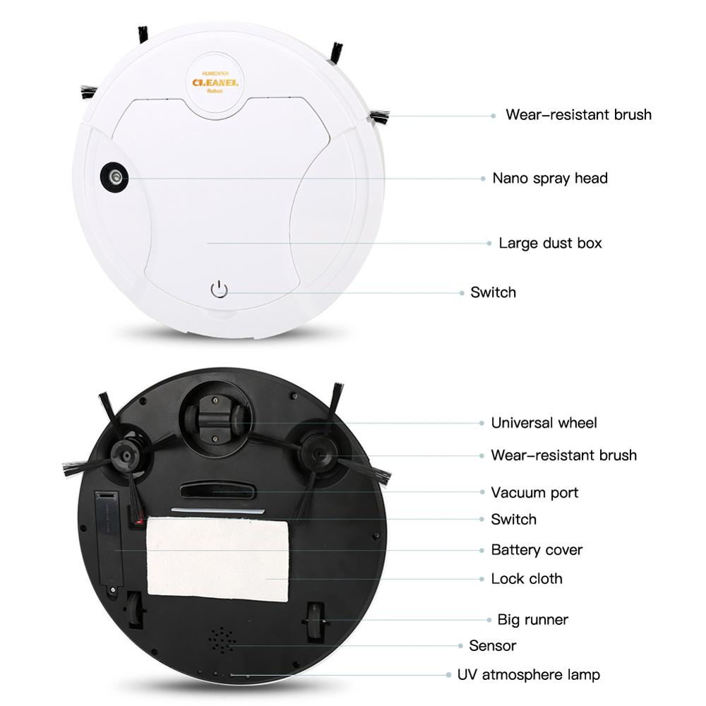 Intelligent Sweeping Robot, Household Charging, Sweeping, Vacuuming, Mopping, Spray, Ultraviolet 5-in-1 Cleaning Machine enlarge