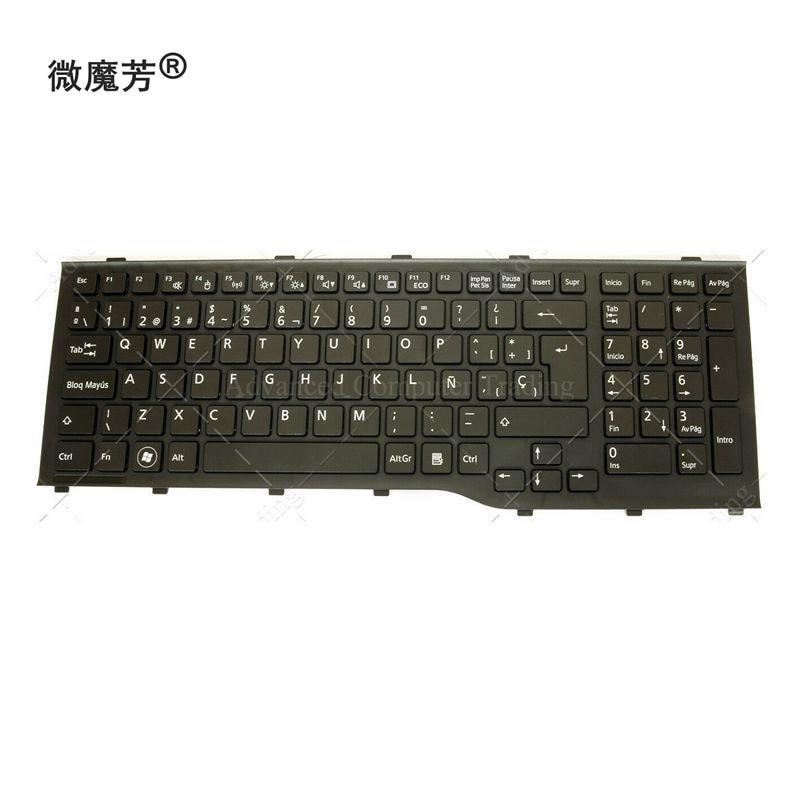Novo sp teclado do portátil para fujitsu lifebook ah532 a532 n532 nh532