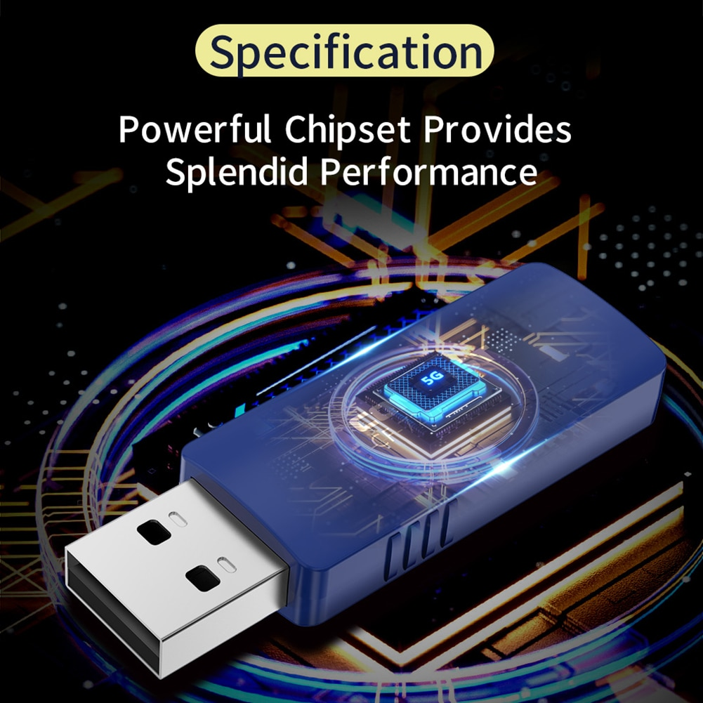 COMFAST USB Network Card Wireless Bluetooth WiFi Adapter 1300Mbps 2.4G+5.8G PC Laptop Wi-fi Adapter Receiver Dongle enlarge