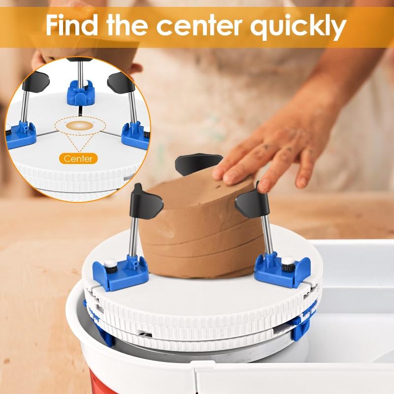 Suporte de Reparo Clipe de Plástico Re-centralização e Segurando Ferramentas de Cerâmica Crua Vaso Tigela Copo Placa Redonda Novo