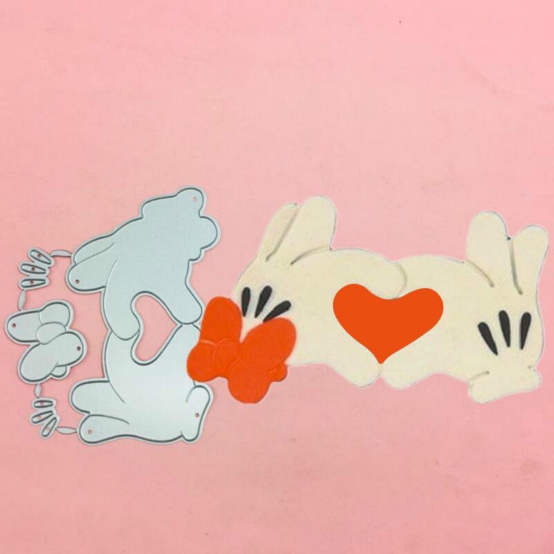 Mickey Minnie love hand Metal Cut Dies Stencils for Scrapbooking Stamp/photo album Decorative Embossing DIY Paper Cards