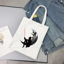 STAR WARS Darth Vader Handbags Hot Selling Fashion Handbag Canvas Bag Tote Ladies Casual Shoulder Bag Reusable Shopping Bags
