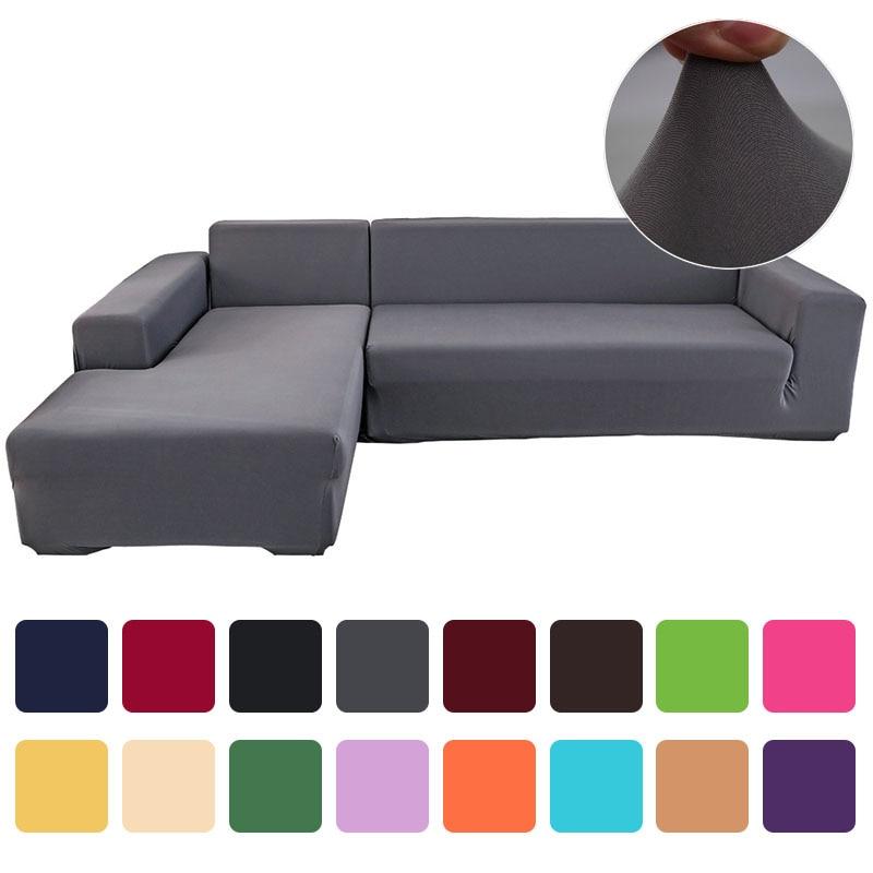 Tampa Do Sofá Do Poliéster de Alta Elasticidade Cor sólida Não-deslizamento Sofá Slipcover Móveis Cadeira Universal Capa Protetora