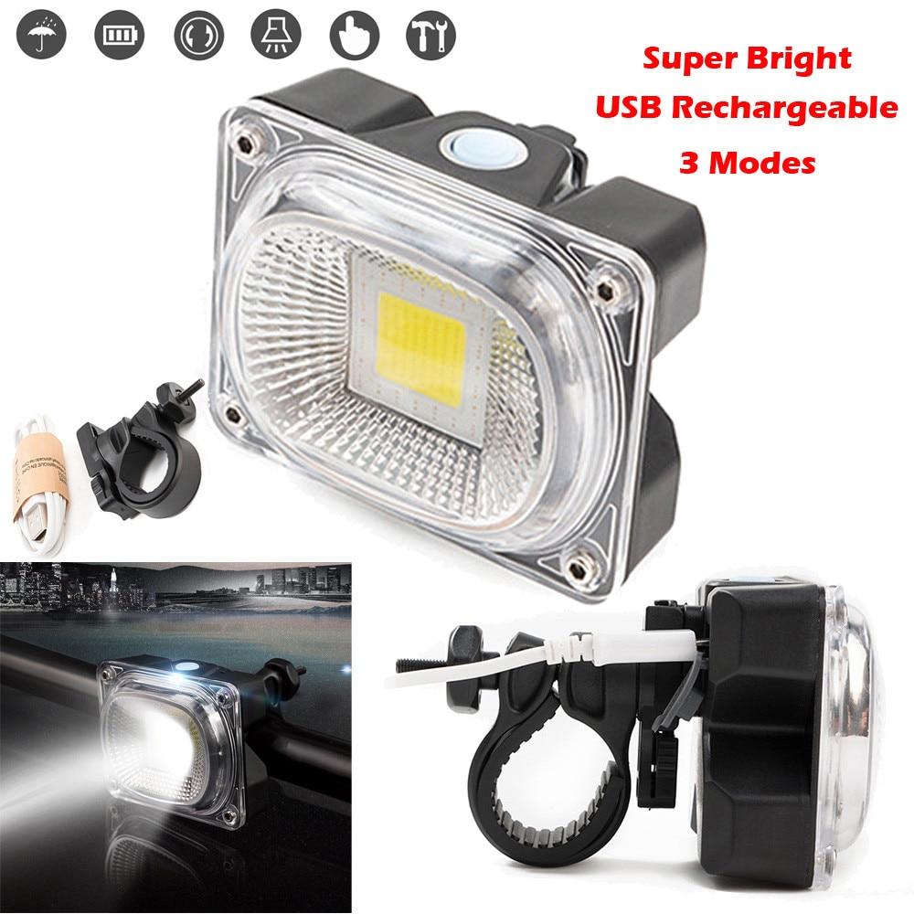 Envío GRATIS Super brillante recargable De luz Led De bicicleta luz delantera...