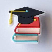 06 School Graduation PVC Crocses Shoe Charms Garden Shoes Accessories Decoration Fit Band Kids Gift
