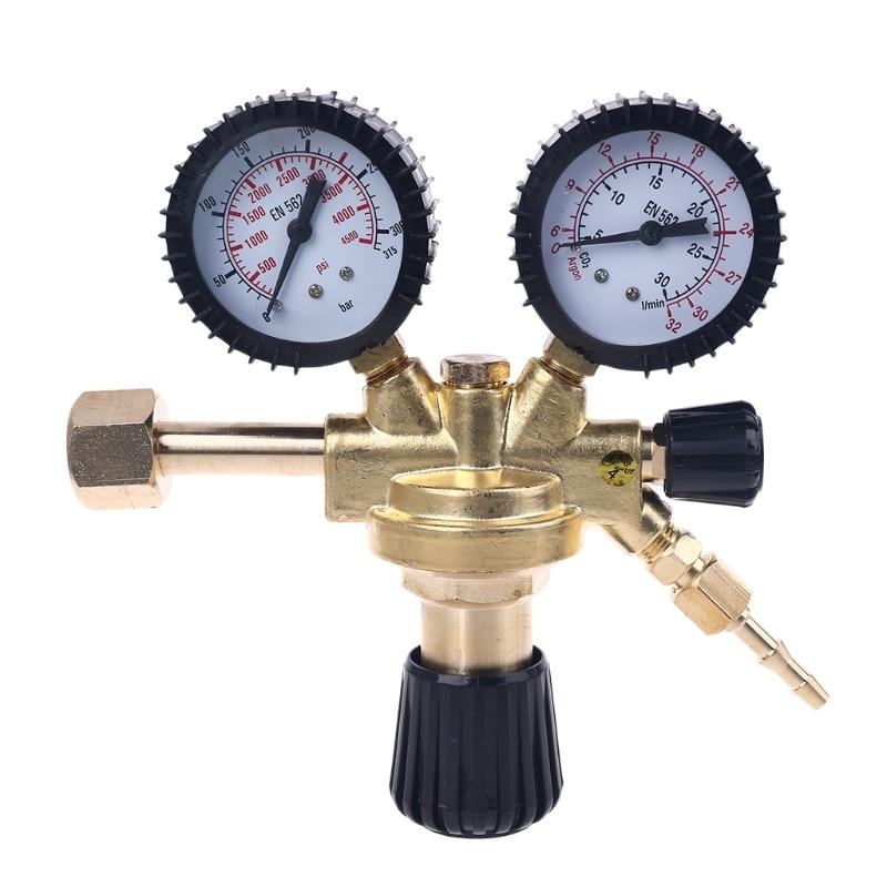 OOTDTY CO2 аргон, азот регулятор давления ударопрочный MAG / MIG сварочный редуктор давления W21.8 резьба