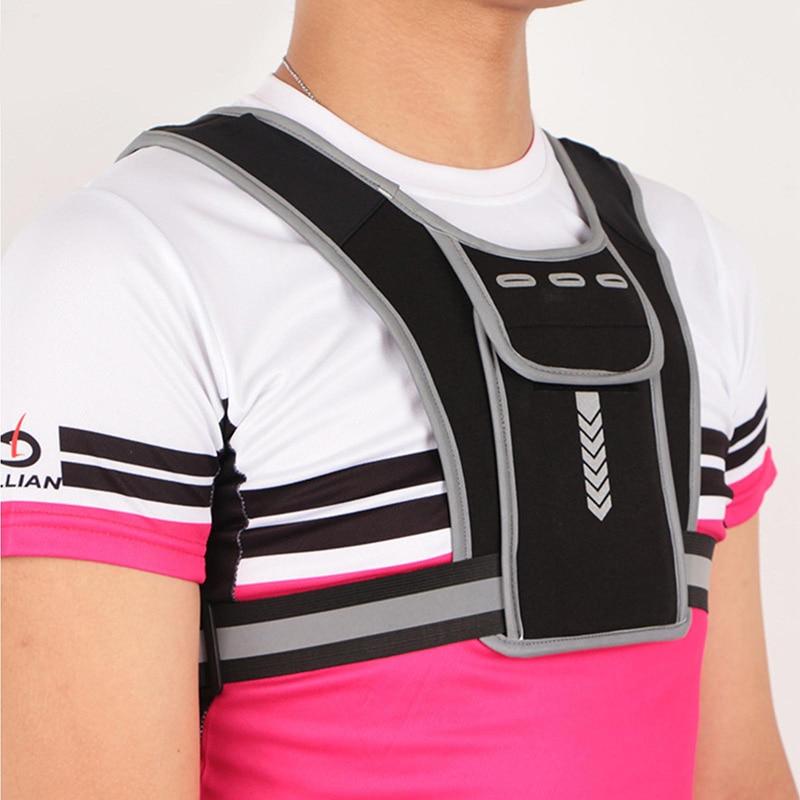 Рюкзак для бега, легкий спортивный жилет, сумки для мужчин и женщин, сумка для бега, вместительная Светоотражающая Спортивная нагрудная Сум...