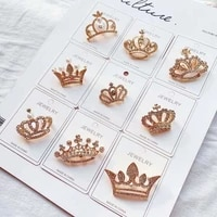 fashion crystal brooch luxury retro crown badges for women rhinestone pin brooches girl wedding corsage clothing dress decor 1pc