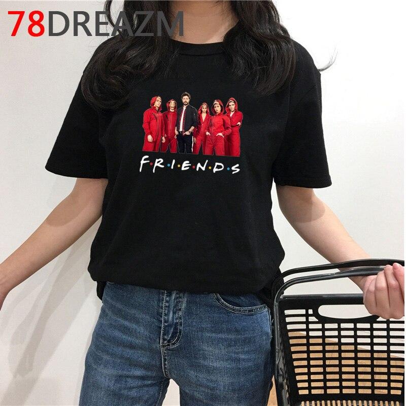 Camiseta masculina la casa de papel, desenhos animados, verão, top, dinheiro, cintura, legal, bella ciao camiseta masculina gráfica,