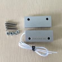 Aluminum alloy Wired Door Window Sensor Magnetic Switch Home Alarm System Detector
